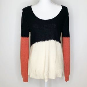 Free People color block wool blend sweater B0192